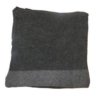 Charcoal Gray Cashmere Blanket