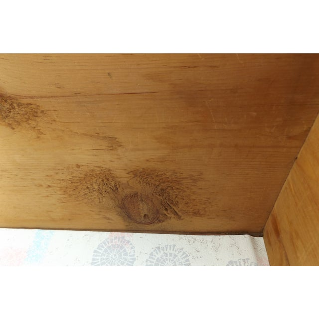 Primitive Antique Dovetailed Pine Hope Chest - Image 9 of 10