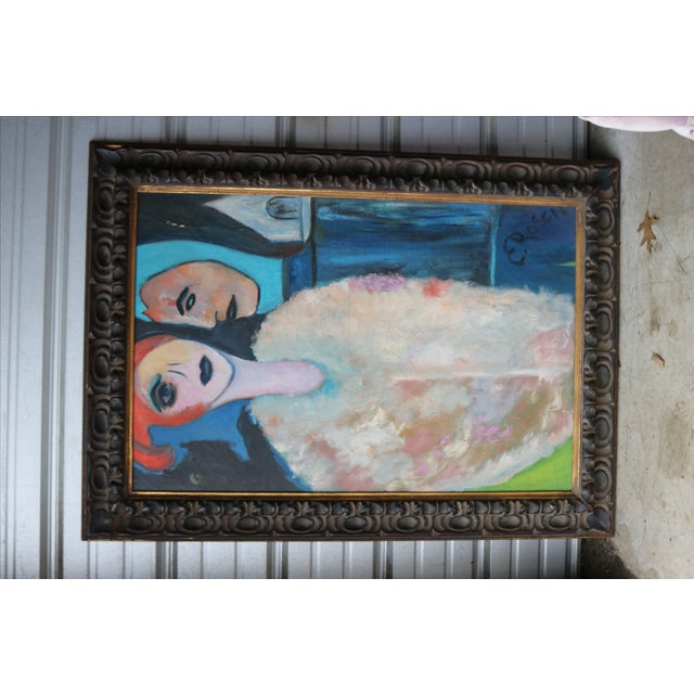 1960's Oil on Canvas Portrait Painting by Eb Rosen - Image 2 of 8