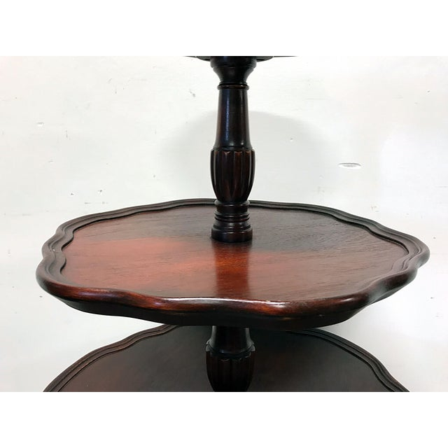 Vintage Mersman 3-Tier Mahogany Table - Image 8 of 10