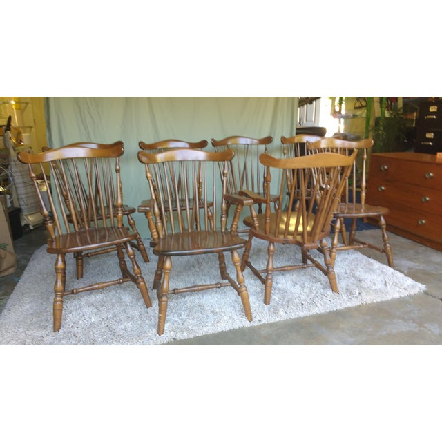 Antique Heirloom Fiddle Back Chairs - Set of 8 - Image 3 of 7