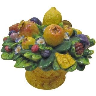 Italian Majolica Fruit Basket