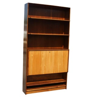 Mid-Century Bookcase With Hide-Away Mini Bar