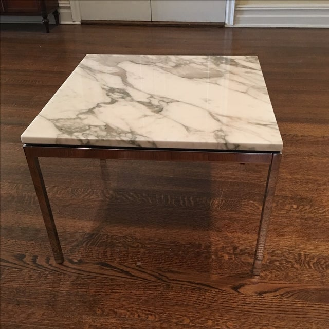 Knoll Marble Coffee Table: Florence Knoll Calacatta Marble Coffee Table