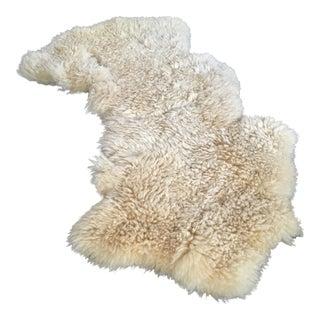 Authentic White Sheepskin Throw