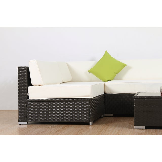 Modern Patio Rattan Sectional - Set of 7 - Image 7 of 7