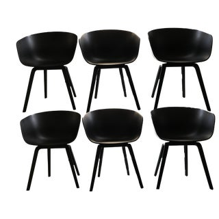 Hay Aac22 Mid-Century Modern Dining Chairs - Set of 6