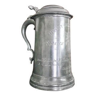 1893 Antique English Pewter Regatta Tankard Trophy