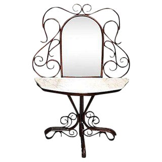 Bentwood Mirror & Console