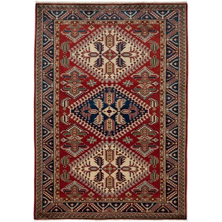 """New Traditional Hand Knotted Area Rug - 4'4"""" x 6'"""