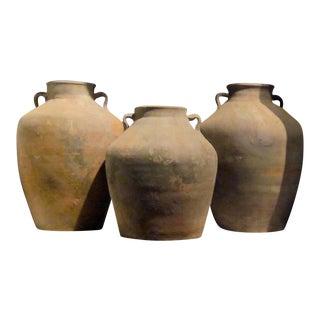 19th Century Terra Cotta Food Vessel Pots, China