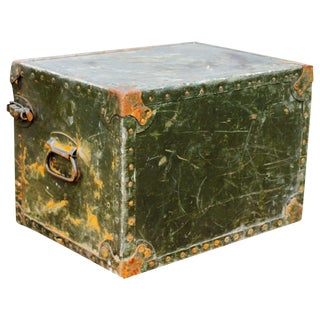 WWII Military Portable Field Desk / Footlocker