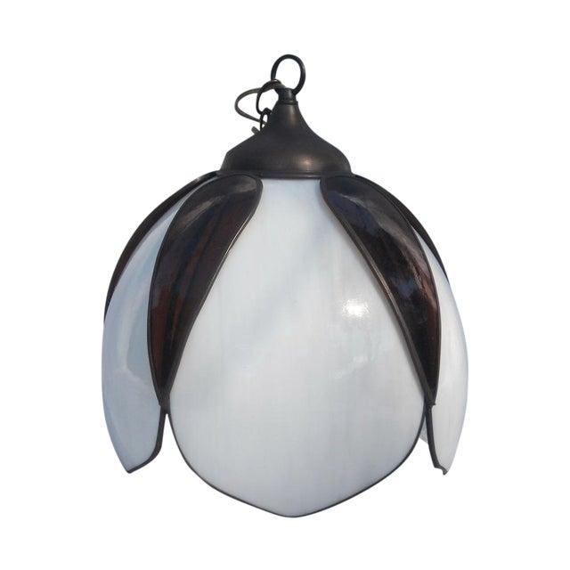 Mid-Century Modern Lotus Glass Pendant Light - Image 1 of 8