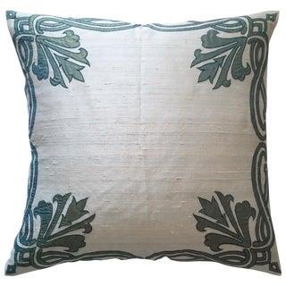 Silk Appliqué Pillow Cover