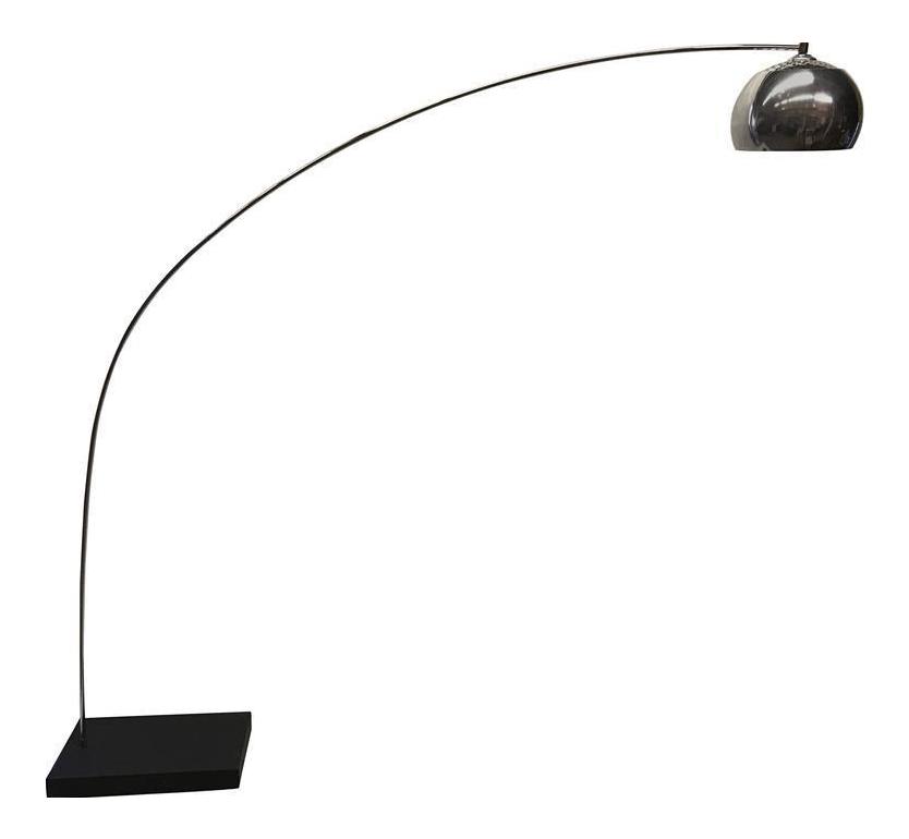 1970s chrome arc floor lamp