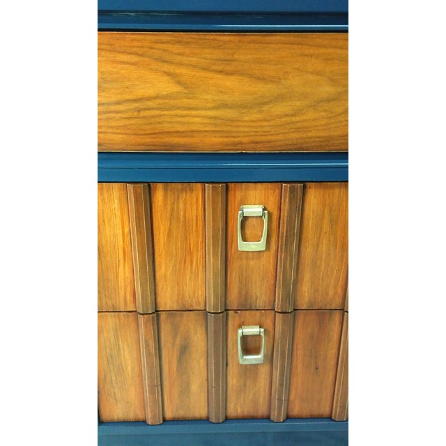 Mid-Century Mahogany & Blue Lacquered Dresser - Image 5 of 5