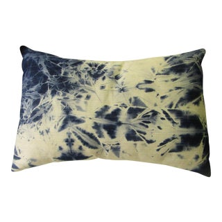 """Sela"" Hand Made Tie Died Denim Pillow"