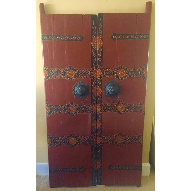 Antique Chinese Wooden Gate Doors - a Pair - Image 2 of 11