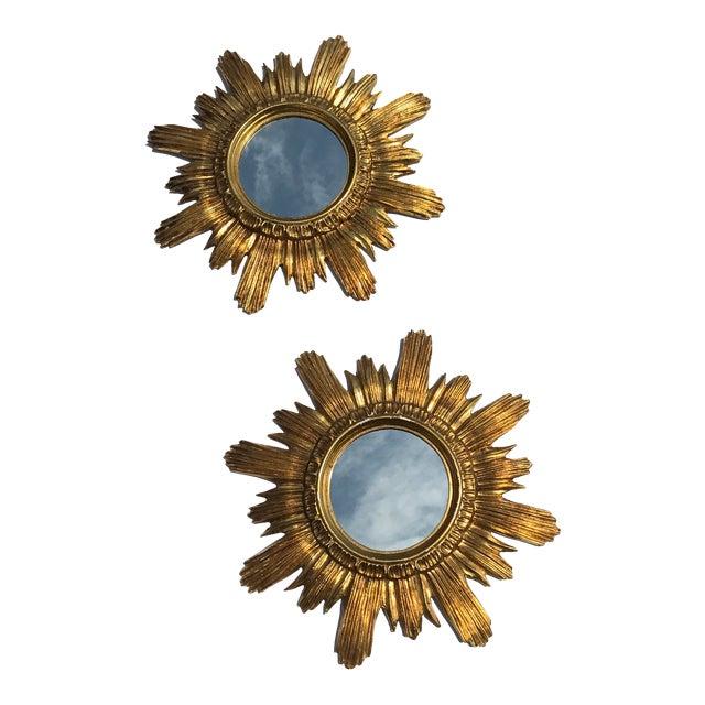 Italian Starburst Mirrors- A Pair - Image 1 of 8