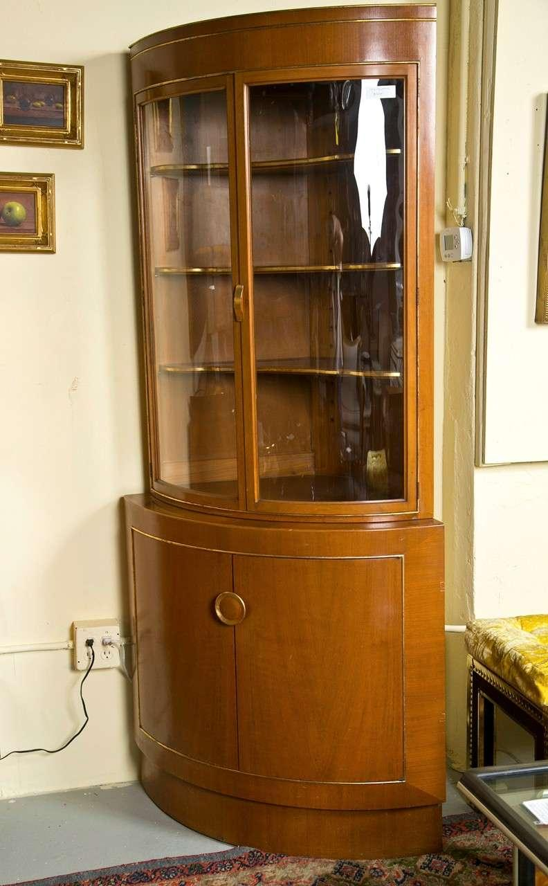 Captivating Grosfeld House Bow Front Corner Cabinet   Image 10 Of 11