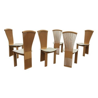 Pietro Costantini Maple Dining Chairs - Set of 6