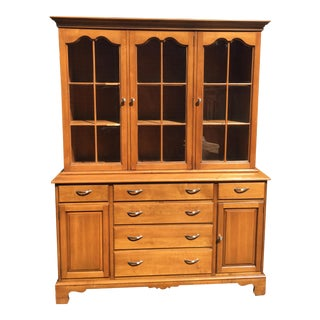 1950s Drexel Maple 2-Piece China Cabinet