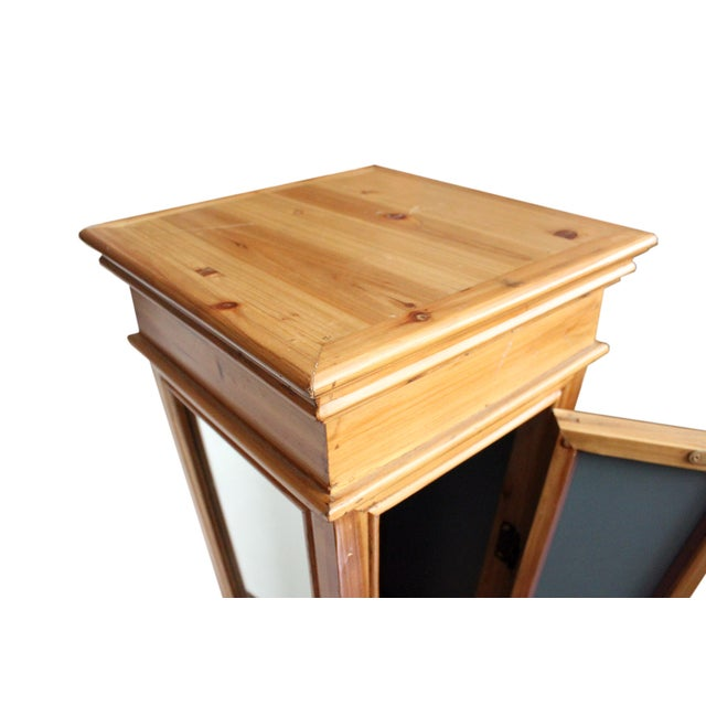 Wooden Mirrored Storage Pedestal - Image 6 of 8