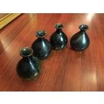 Image of Vintage Stoneware Sake Bottles - Set of 4