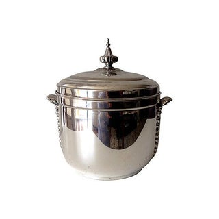 Silver Plate Ice Bucket With Mercury Lining