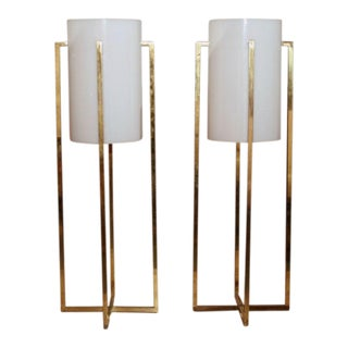 Robert Sonneman Tall Table Lamps - a Pair