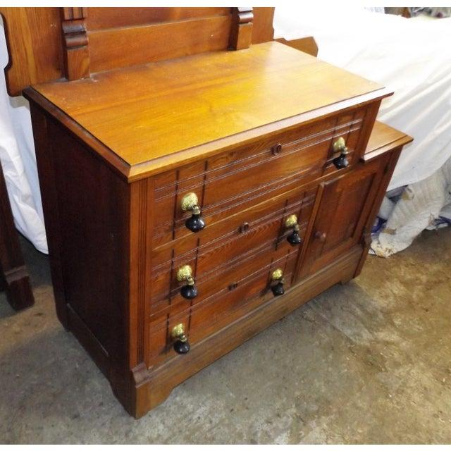 Antique Eastlake Oak Dresser And Mirror Chairish