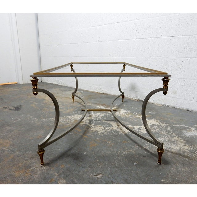 Vintage French Decorative Coffee Table With Brass - Image 2 of 11