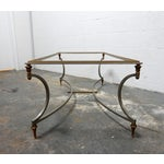 Image of Vintage French Decorative Coffee Table With Brass