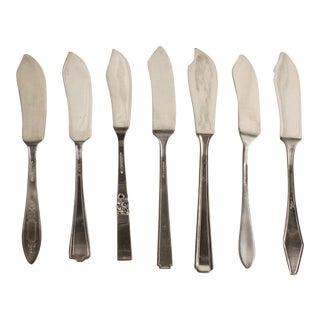 Vintage Silver Plate Spreaders - Set of 8
