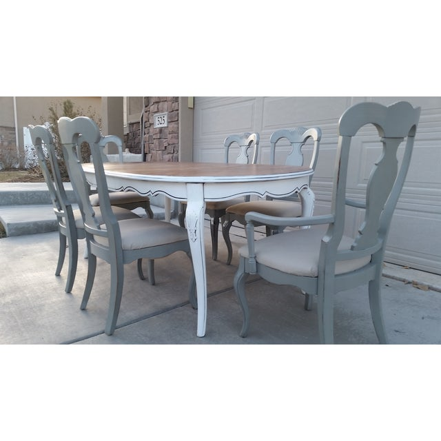 Image of Gray & White French Country Dining Set