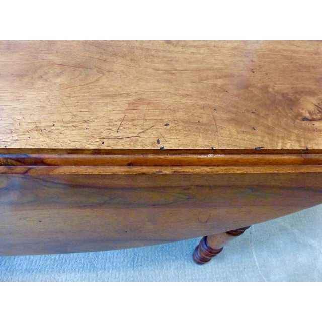 Antique French Walnut Drop Leaf Table - Image 6 of 7
