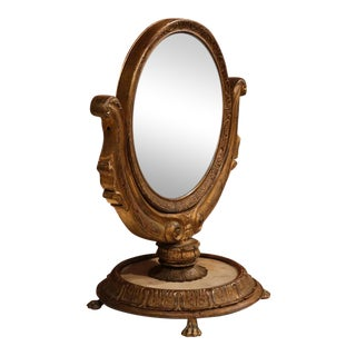 19th Century French Empire Swivel & Tilt Makeup Mirror