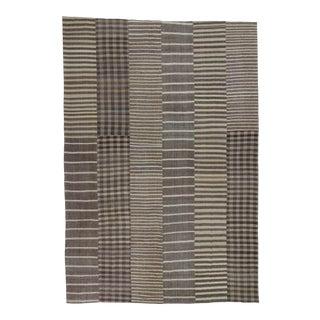 "Natural Striped Vintage Oversized Turkish Kilim Rug - 10'5"" X 15'3"""