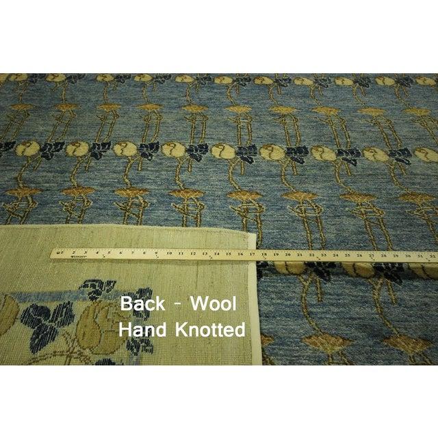Super Gabbeh Blue Wool Rug - 9' x 12' - Image 7 of 10
