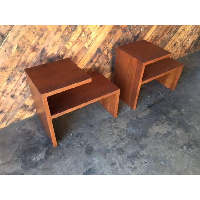 Mid-Century Vintage Walnut Side Tables - A Pair - Image 6 of 8