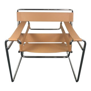 Mid-Century Modern Marcel Breuer Wassily Style Armchair
