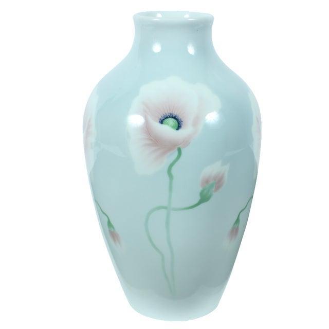 Decorative Porcelain Poppy Vase - Image 1 of 3