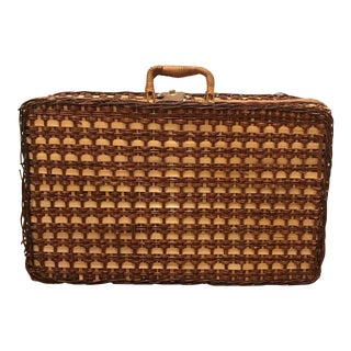 Vintage Picnic Basket Style Suitcase