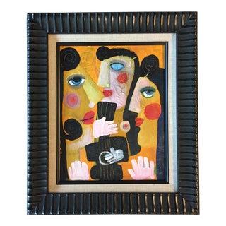 '3 Nudes' Contemporary Folk Painting