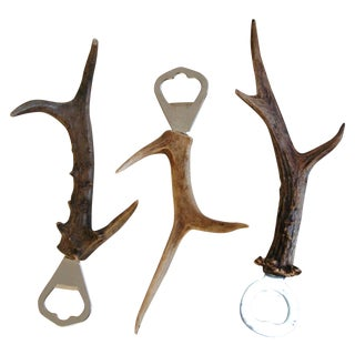 1950s Antler/Horn Bar Bottle Openers - Set of 3
