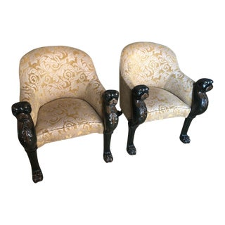 Baker Panther Chairs - A Pair