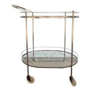 Vintage Metal & Glass Bar Cart