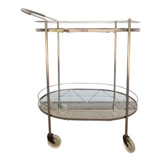 Vintage Metal & Glass Bar Cart