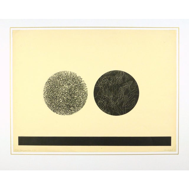 Abstract Fine Art Lithograph - Night & Day, 1971 - Image 4 of 4