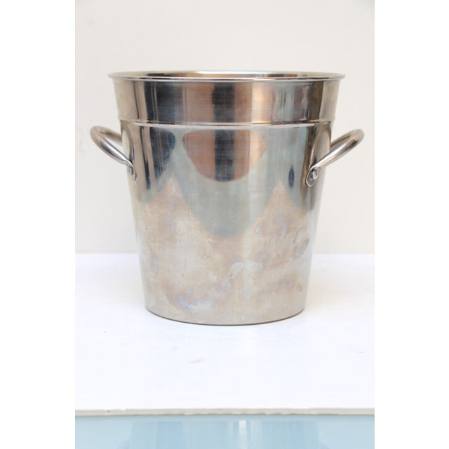 Silverplated Ice Bucket with Handles - Image 3 of 7